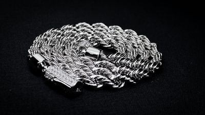 "White Gold ""Rope to Heaven"" Rope Chain"